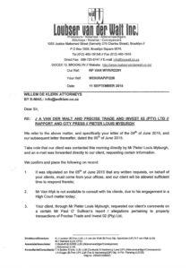 07 Letters van der Walt to Rapport