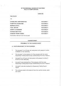 Charge Sheet and Chumlong Plea 2012-11-05