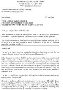 Letter to Minister 2006-05-03.doc
