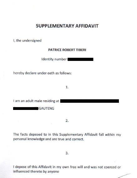 Supplementary Affidavit